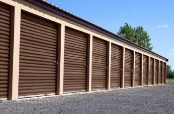 A very secure and clean looking storage unit.
